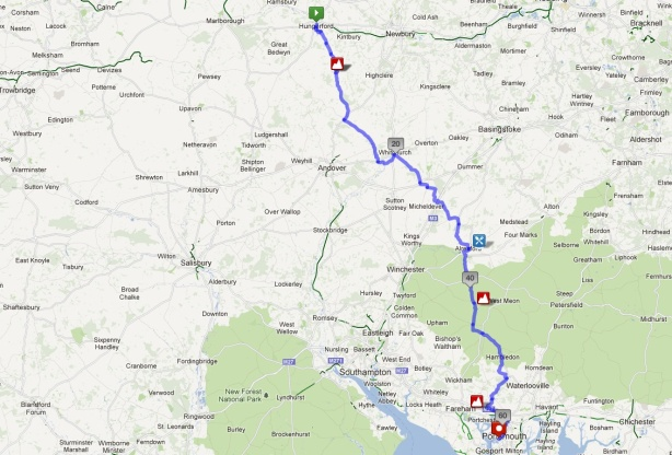 Hungerford to Portsmouth