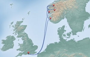 Itinerary Map from P&O Website